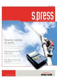 Greater safety at work: - Swissphone