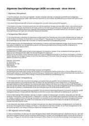 Allgemeine Geschäftsbedingungen (AGB) von adera-web  clever internet