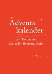 Adventskalender 2013 mit Texten von Prälat Dr. Betram Meier