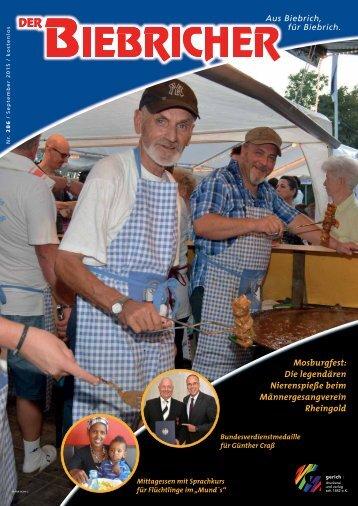 DER BIEBRICHER, Ausgabe 286, September 2015