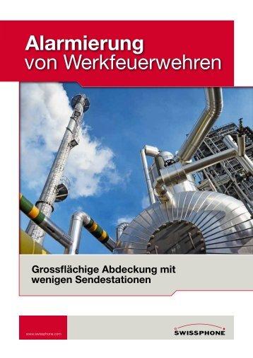 Alarmierung von Werkfeuerwehren - Swissphone