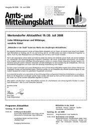 Merkendorfer Altstadtfest 19./20. Juli 2008