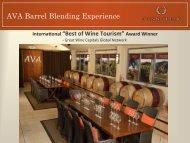 AVA Barrel Blending Experience