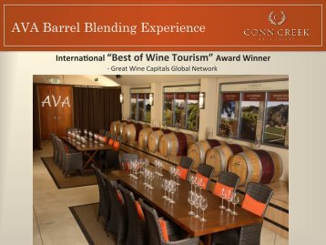 AVA Barrel Blending Experience