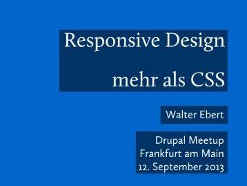 Responsive Design - Mehr als CSS
