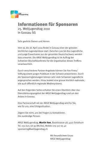 Informationen für Sponsoren