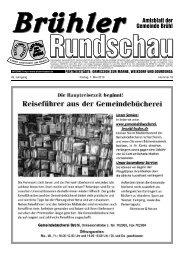 Das neue Online-Portal für die Region - Gemeinde Brühl