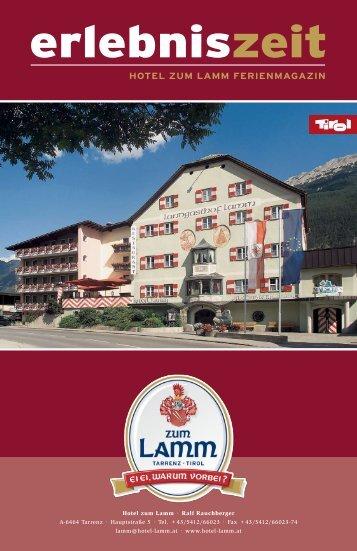 HOTEL ZUM LAMM FERIENMAGAZIN
