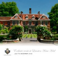 Exclusive events at Lainston House Hotel