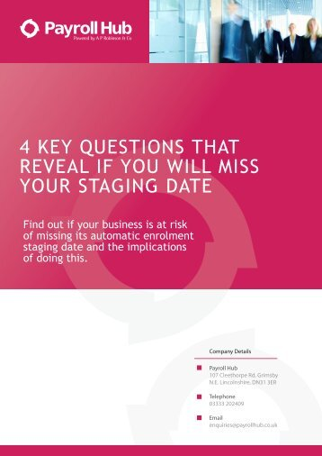 4 KEY QUESTIONS THAT REVEAL IF YOU WILL MISS YOUR STAGING DATE