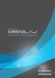 Konferenz Christus in euch 2015