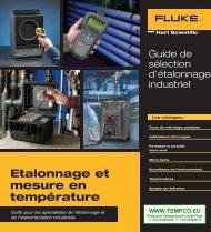 Etalonnage et mesure en température