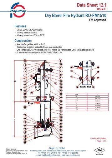 Data Sheet 121 Dry Barrel Fire Hydrant R502