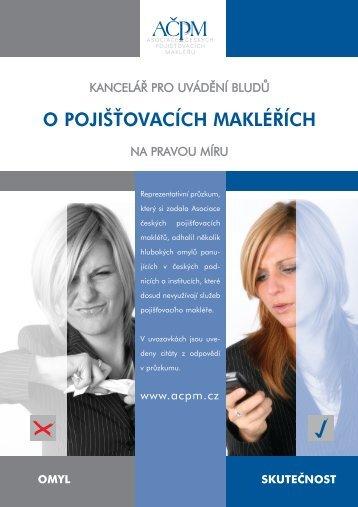 letak omyly finale.qxd - Asociace českých pojišťovacích makléřů