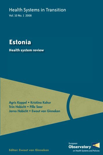 Health Systems in transition - Estonia - World Health Organization ...