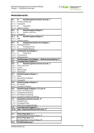 Modulhandbuch [PDF] - HTW Berlin