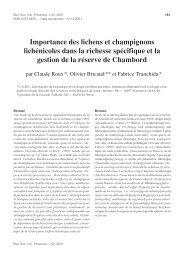 Importance des lichens et champignons ... - lichenologue.org