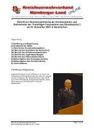 Bericht zur Dienstversammlung der Kommandanten und ...