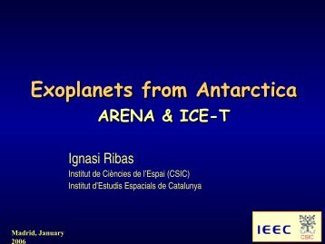 Exoplanets from Antarctica