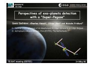 Perspectives of exo-planets detection with a