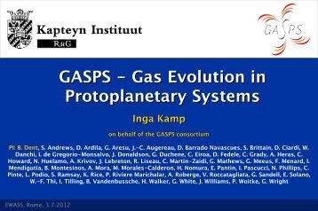 GASPS - Gas Evolution in Protoplanetary Systems