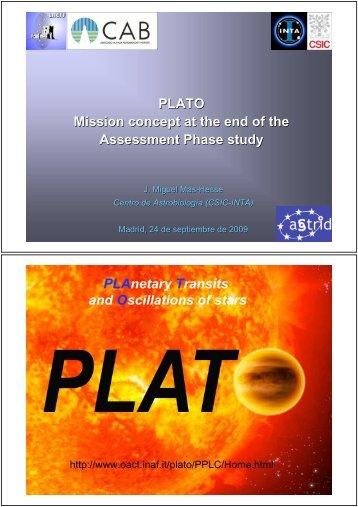 PLATO - Laeff.cab.inta-csic.es