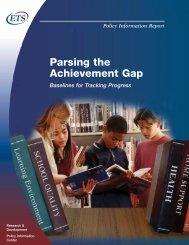 Parsing the Achievement Gap