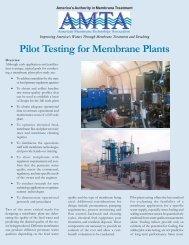 Pilot Testing for Membrane Plants