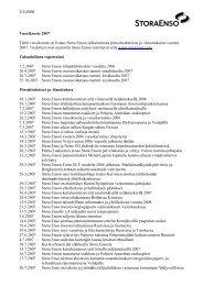 Vuosikooste 2007 Tämä vuosikooste on listaus Stora Enson ...