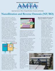 Nanofiltration and Reverse Osmosis (NF/RO)