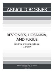 Rosner - Responses, Hosanna, and Fugue, op. 67