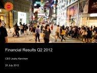 Financial Results Q2 2012 - Stora Enso