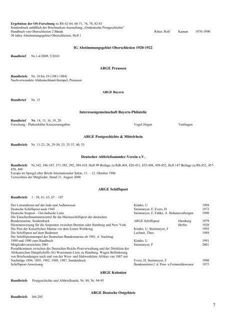 Infla-Bibliothek Stand 11 - INFLA-Berlin, Verein der ...