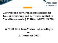 WP/StB Dr. Claus-Michael Allmendinger am 10. Dezember 2003 Zur ...