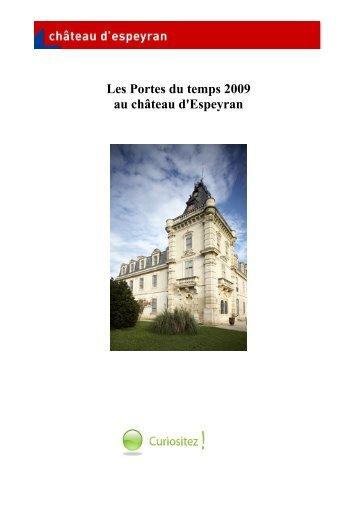 Les Portes du temps 2009 au château d'Espeyran