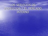 INSPECCION Y EL MERCADO INTERNO