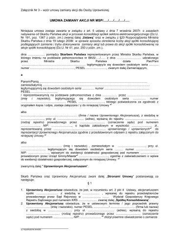 Umowa zamiany akcji