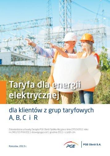 Taryfa dla energii elektrycznej