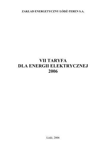 DLA ENERGII ELEKTRYCZNEJ 2006