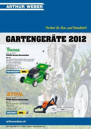 GARTENGERÄTE 2012
