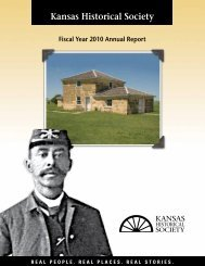 Annual Report 2010 - Kansas Historical Society