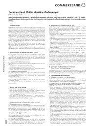 Commerzbank Online Banking Bedingungen - Forium GmbH