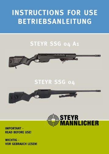 INSTRUCTIONS FOR USE BETRIEBSANLEITUNG - Steyr Mannlicher