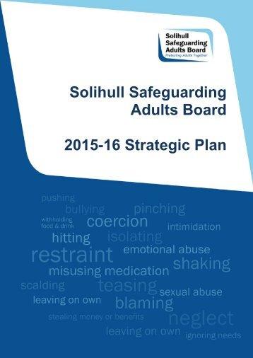 Solihull Safeguarding Adults Board 2015-16 Strategic Plan