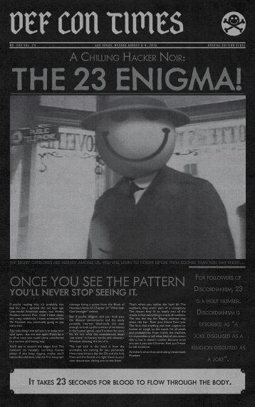 THE 23 ENIGMA!