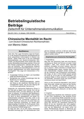 Betriebslinguistische Beiträge - auf der Netzseite von Prof. Dr. iur ...
