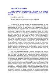 Crecimiento económico, historia y medio ambiente en el Levante ...