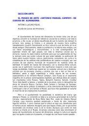 SECCIÓN ARTE EL MUSEO DE ARTE «ANTONIO MANUEL CAMPOY» DE CUEVAS DE ALMANZORA