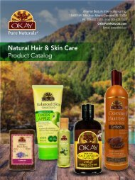 OKAY Natural Hair and Skin Care 2015 Wholesale Catalog