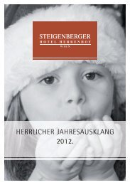Weihnachtsbroschüre - Steigenberger Hotels and Resorts